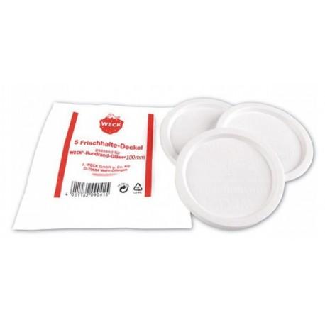 5 Couvercles de conservation pour bocal Weck® diamètre 100 mm