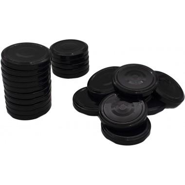 Couvercles à Vis pour Petits Pots et Bocaux de Conservation, Couleur Noire, Made in France, de Diamètre 43 mm lot de 25