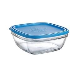 Duralex Freshbox Carré avec couvercle bleu 20cm
