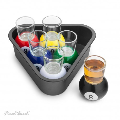 Pool Shots – Verre shooter dans son rangement triangle – Final Touch